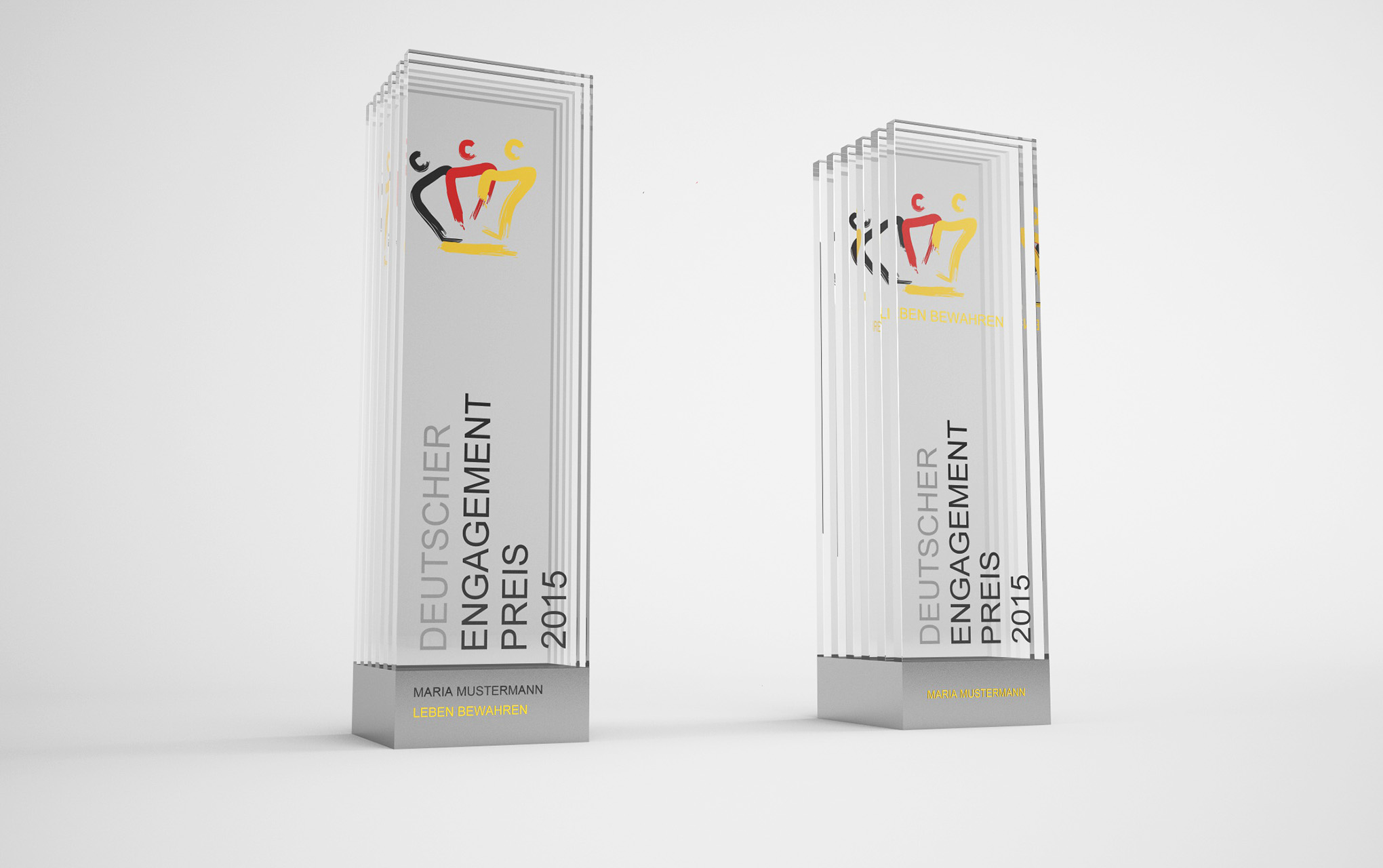 Trophy Design for </br> Voluntary Commitment Prize